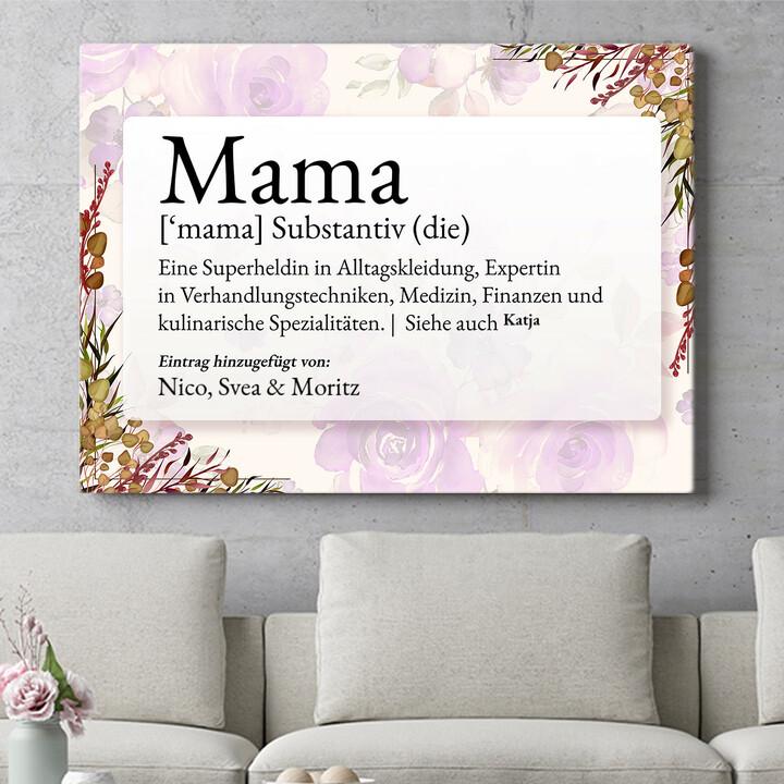 Personalisierbares Geschenk Mama Definition