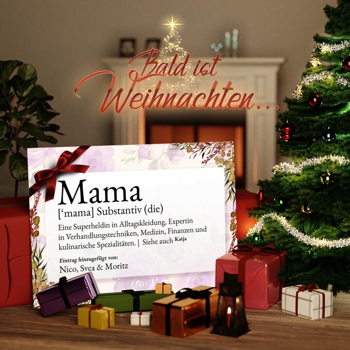 Liebesleinwand zu Weichnachten Mama Definition