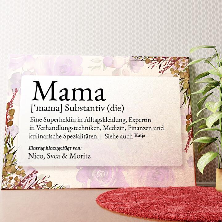 Personalisiertes Wandbild Mama Definition