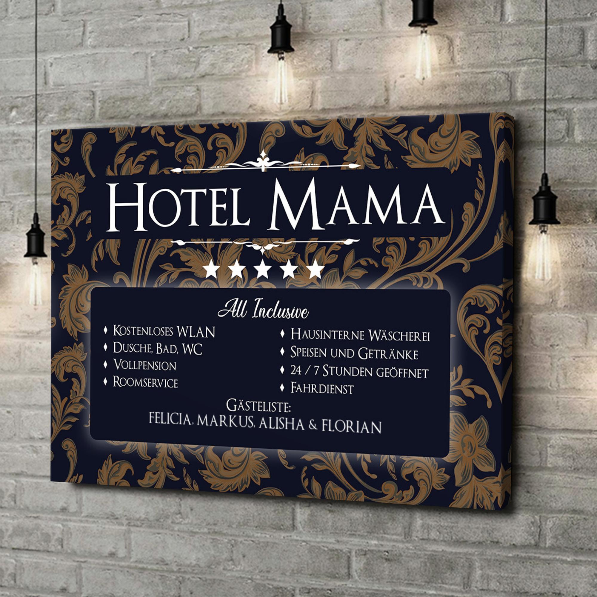 Leinwandbild personalisiert Hotel Mama