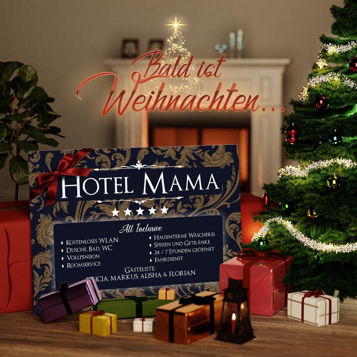 Liebesleinwand zu Weichnachten Hotel Mama