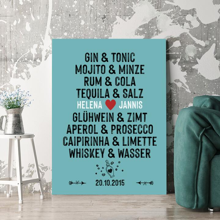 Personalisierbares Geschenk Du & Ich - Drinks