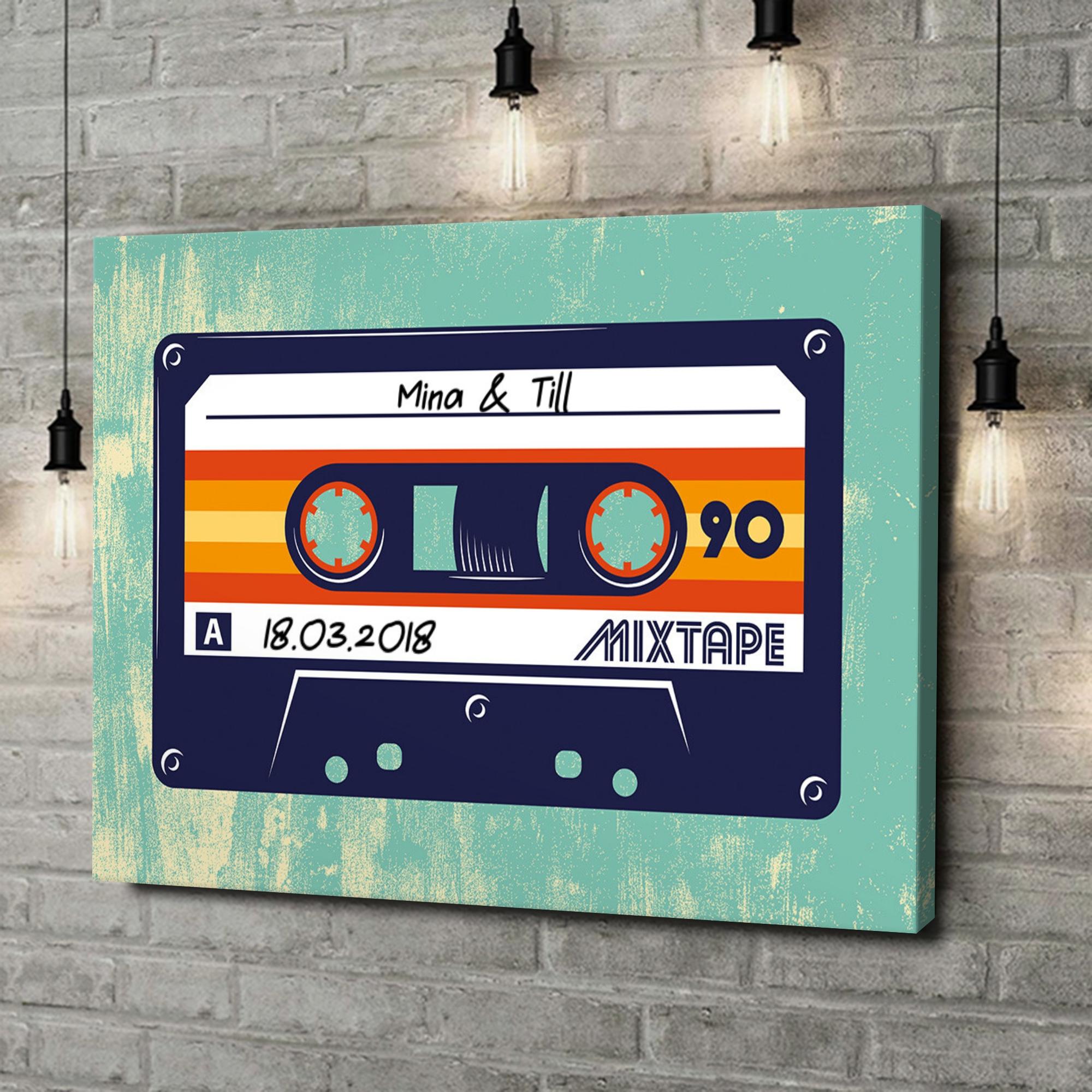 Leinwandbild personalisiert Mixtape