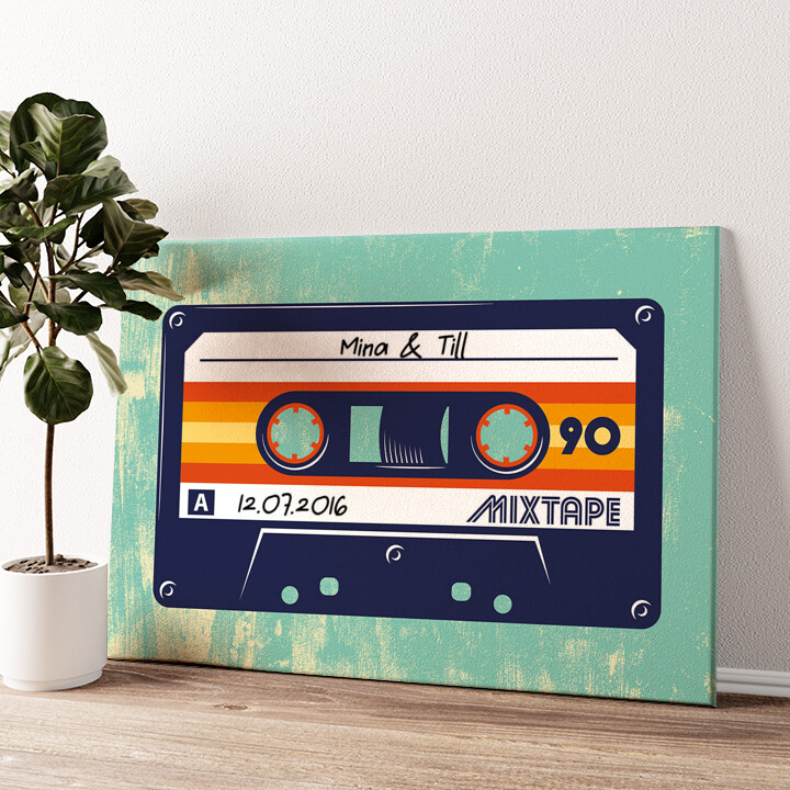 Mixtape Wandbild personalisiert
