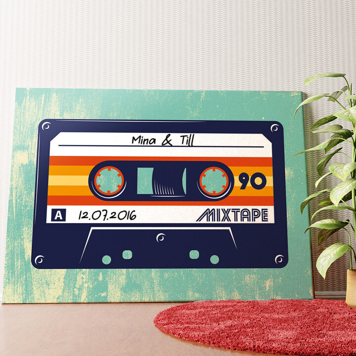 Personalisiertes Wandbild Mixtape