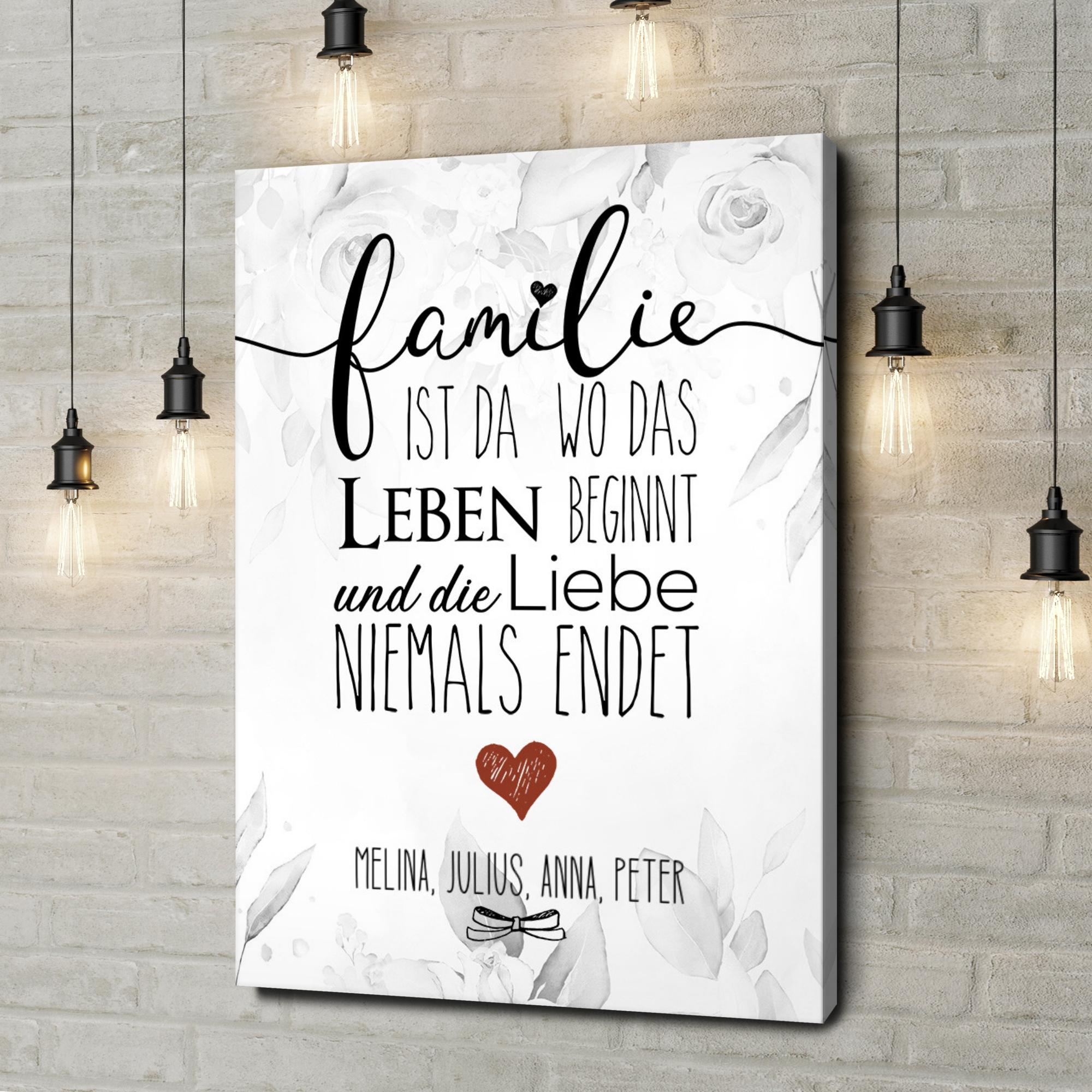Leinwandbild personalisiert Family