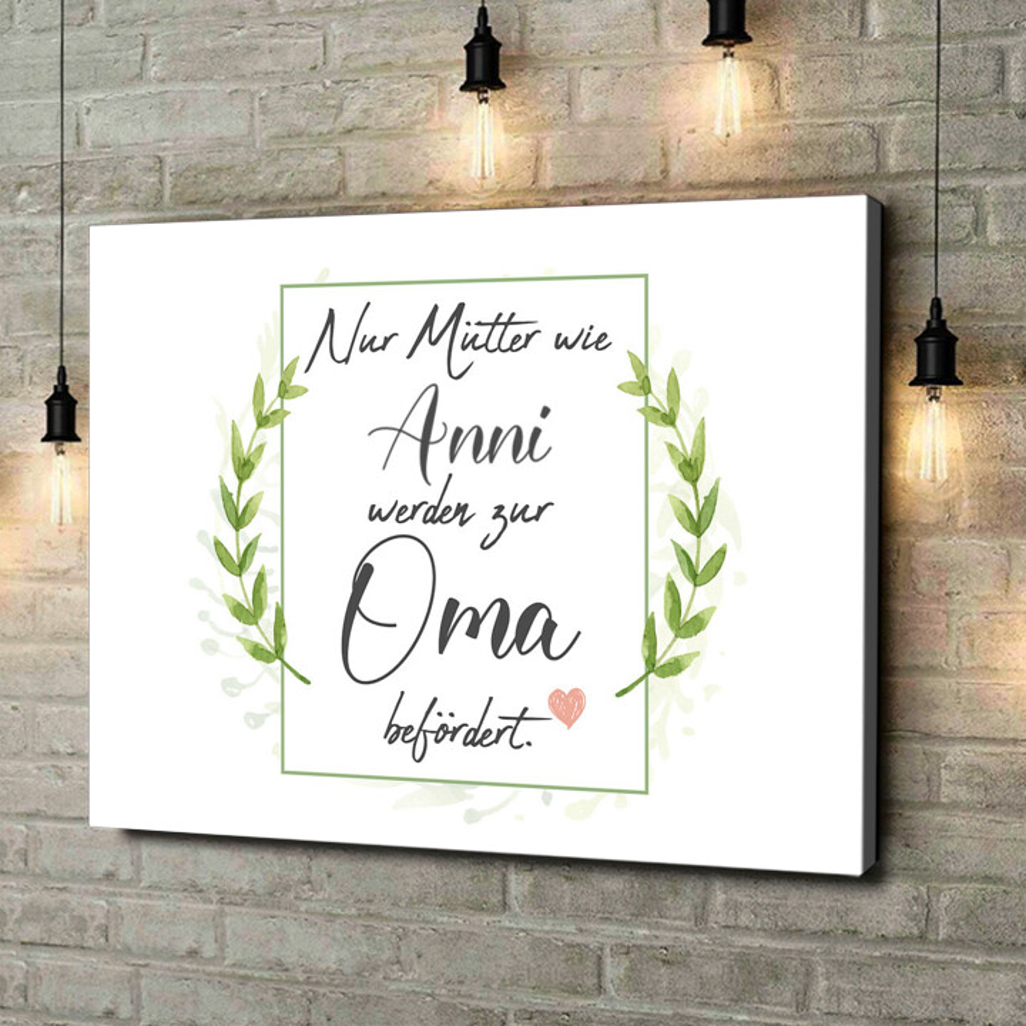 Leinwandbild personalisiert Mama wird Oma