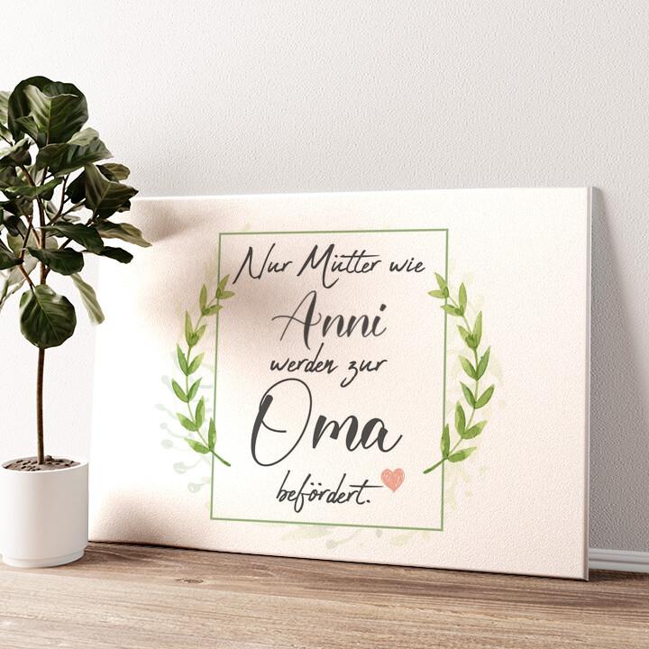 Mama wird Oma Wandbild personalisiert
