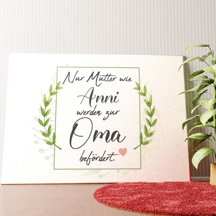 Personalisiertes Wandbild Mama wird Oma