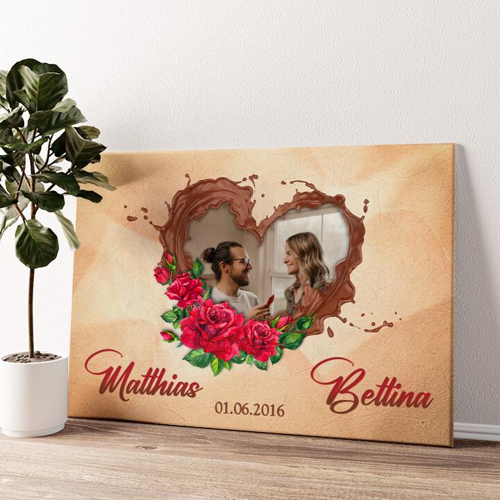 Unsere Schokoladenseite Wandbild personalisiert