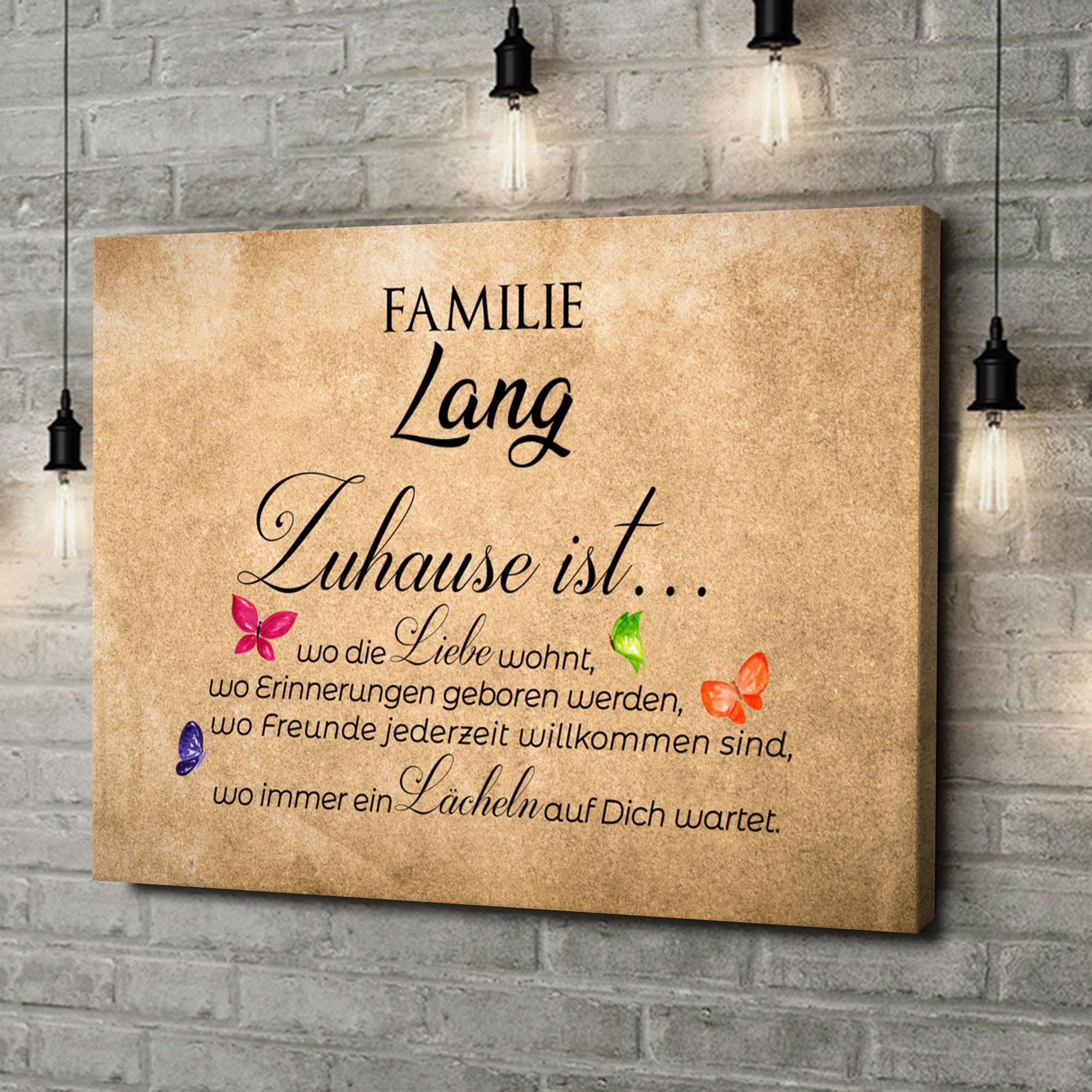 Leinwandbild personalisiert Zuhause