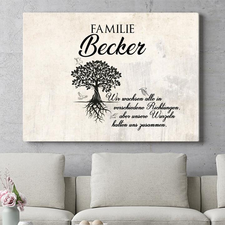 Personalisierbares Geschenk Family Tree