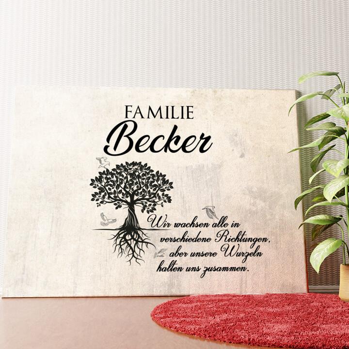 Personalisiertes Wandbild Family Tree