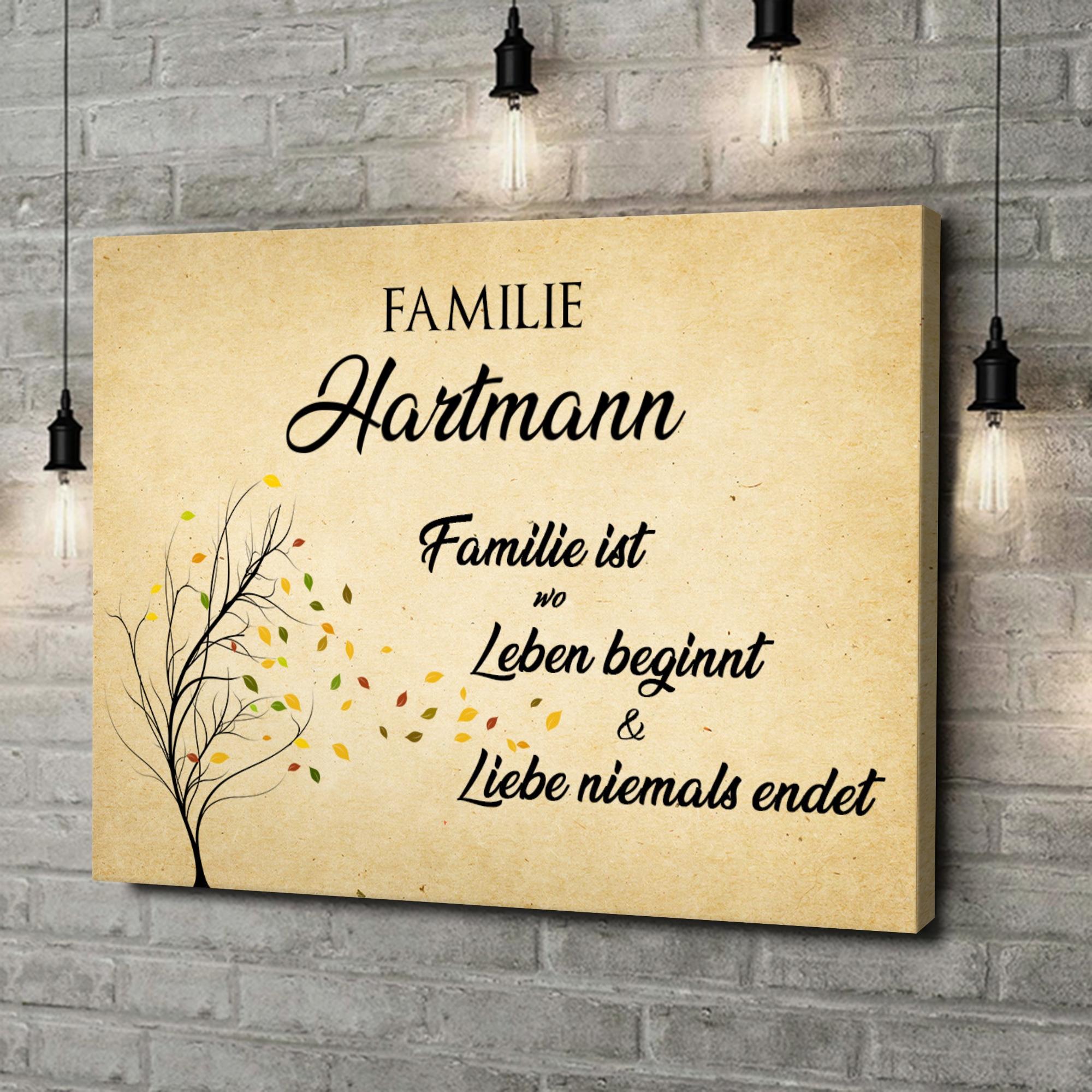 Leinwandbild personalisiert Familienleben
