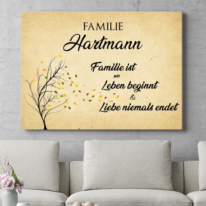 Personalisierbares Geschenk Familienleben