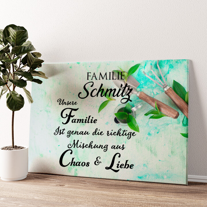 Chaos & Liebe Wandbild personalisiert