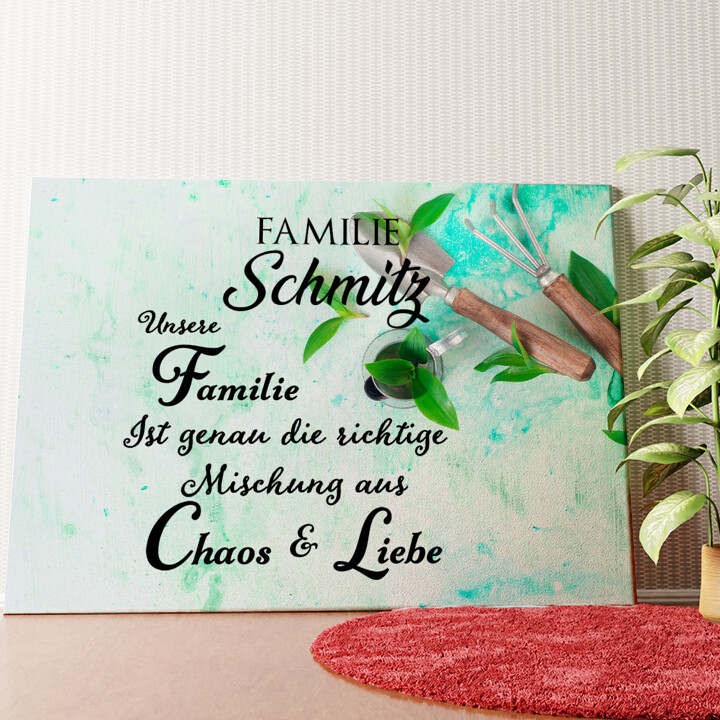Personalisiertes Wandbild Chaos & Liebe