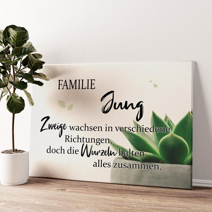Wurzeln Wandbild personalisiert
