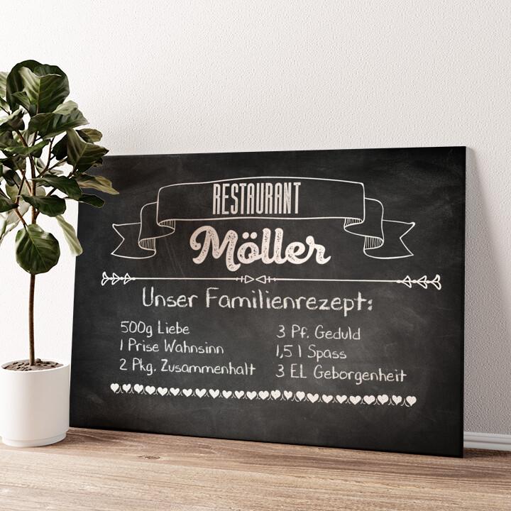 Familienrezept Wandbild personalisiert