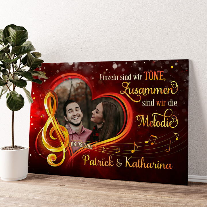 Melodie aus Liebe Wandbild personalisiert