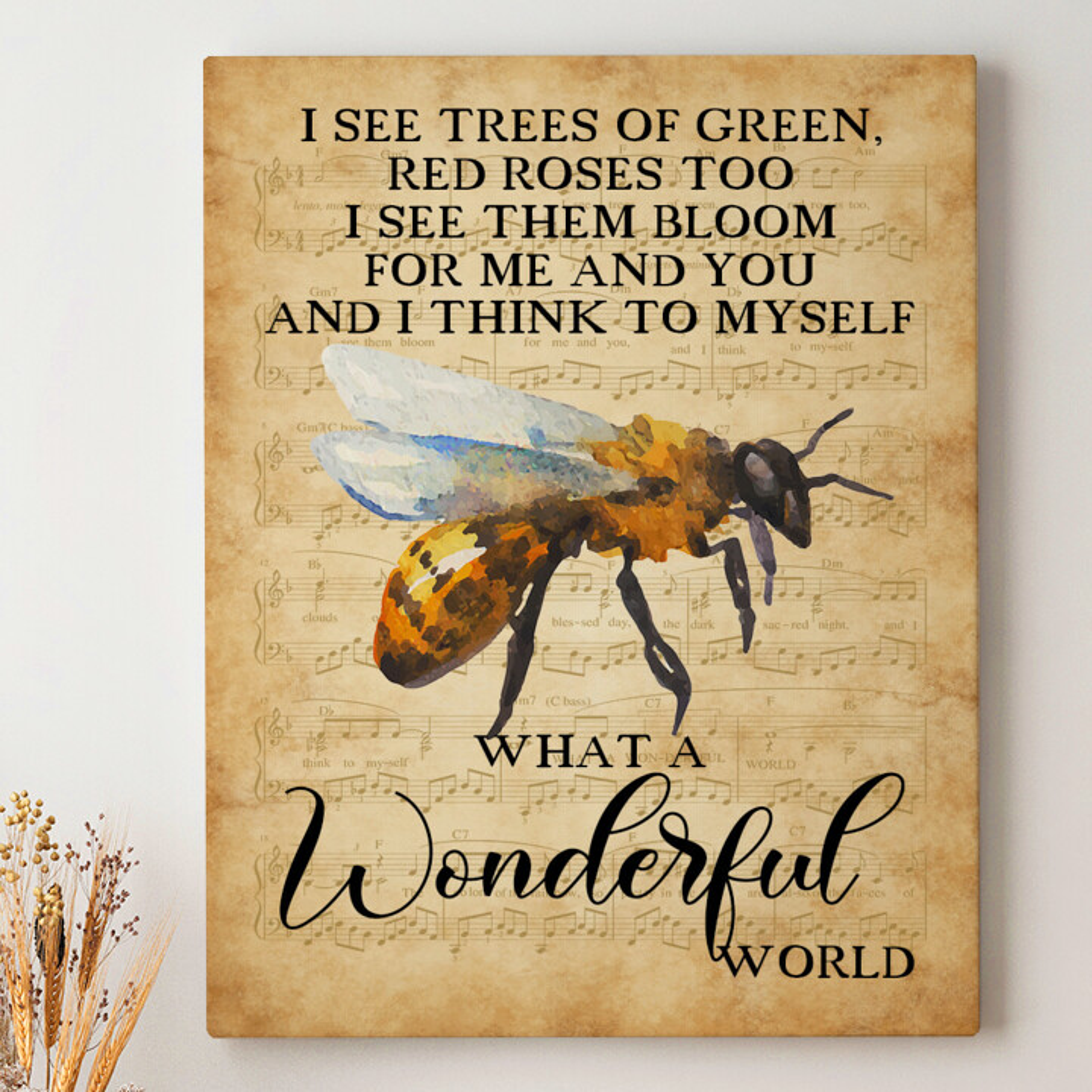 Leinwandbild personalisiert Wonderful World