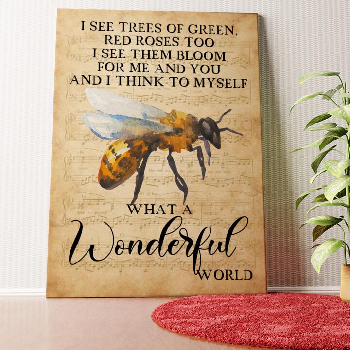 Personalisiertes Wandbild Wonderful World