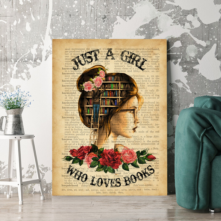 Personalisierbares Geschenk Girl Who Loves Books