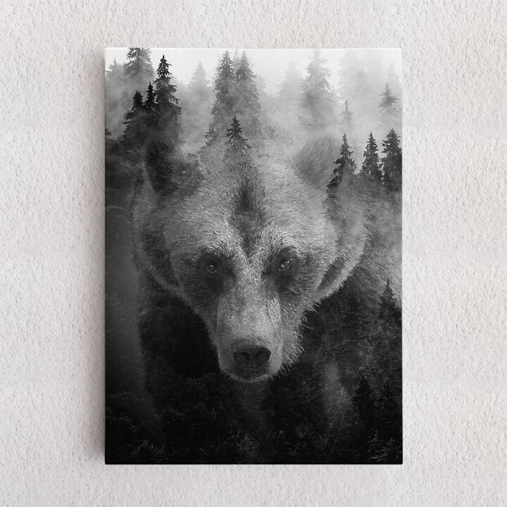 Personalisiertes Leinwandbild Into The Forest I Go