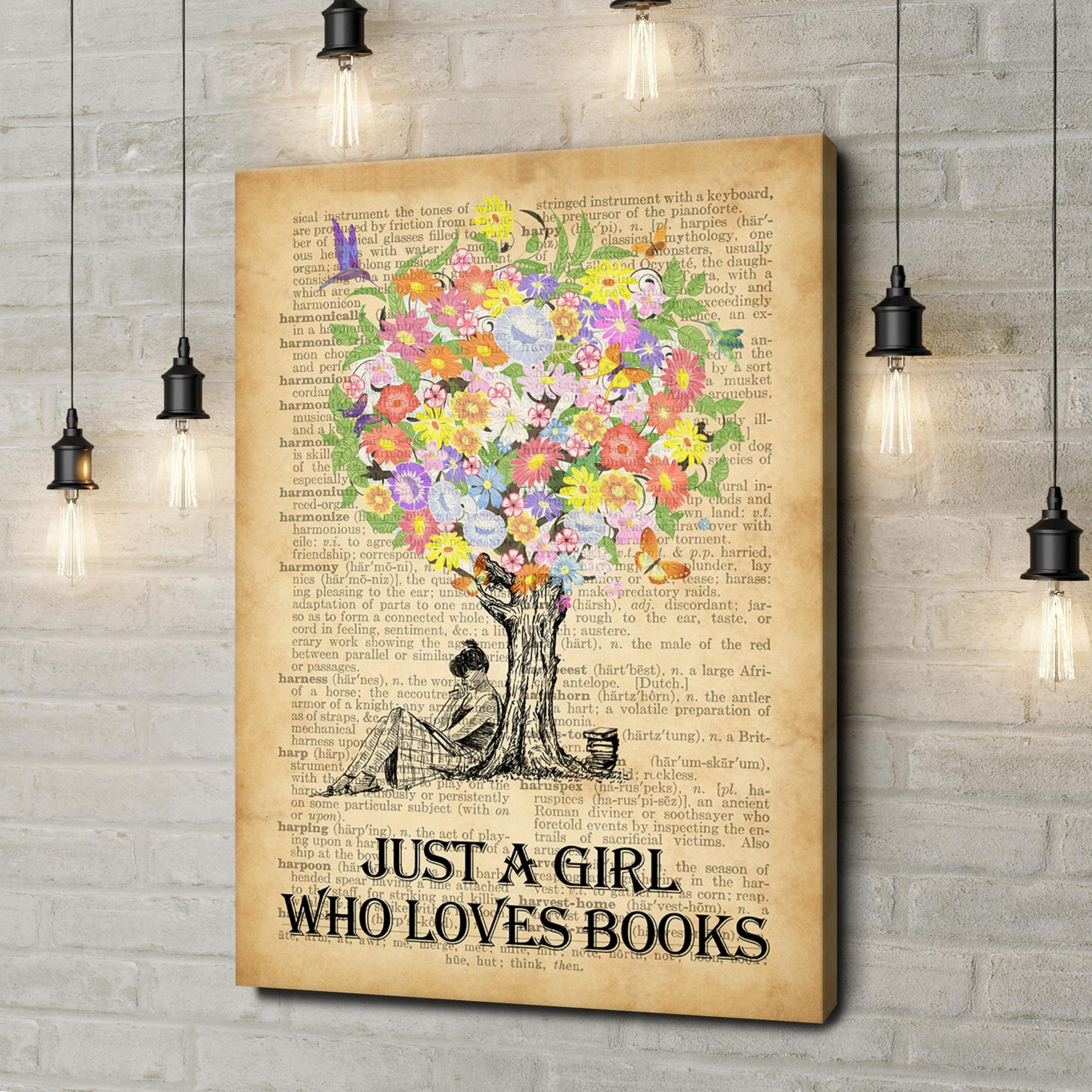 Leinwandbild personalisiert Tree of Books