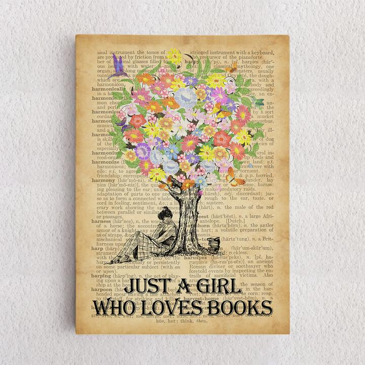 Personalisiertes Leinwandbild Tree of Books