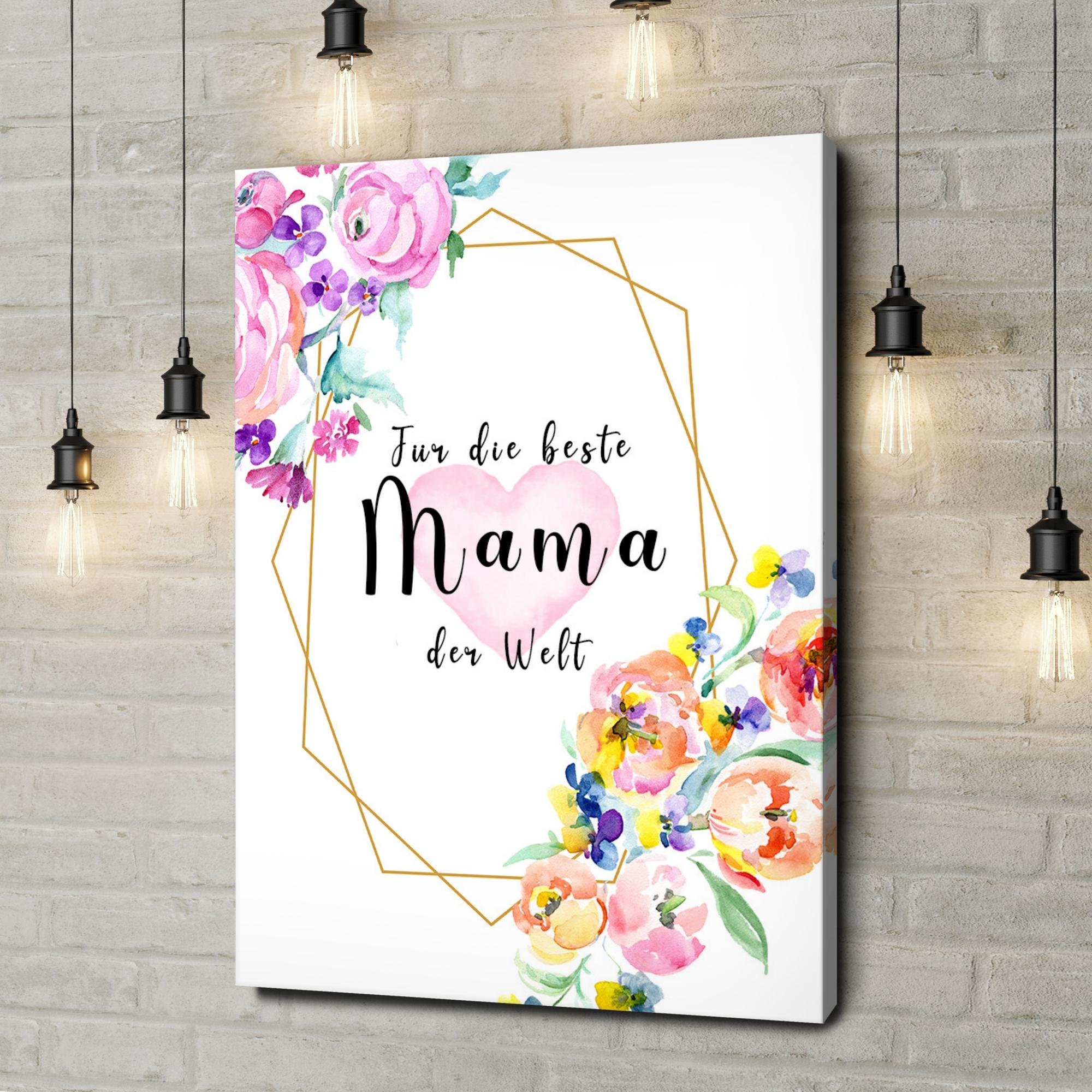 Leinwandbild personalisiert Für Mama
