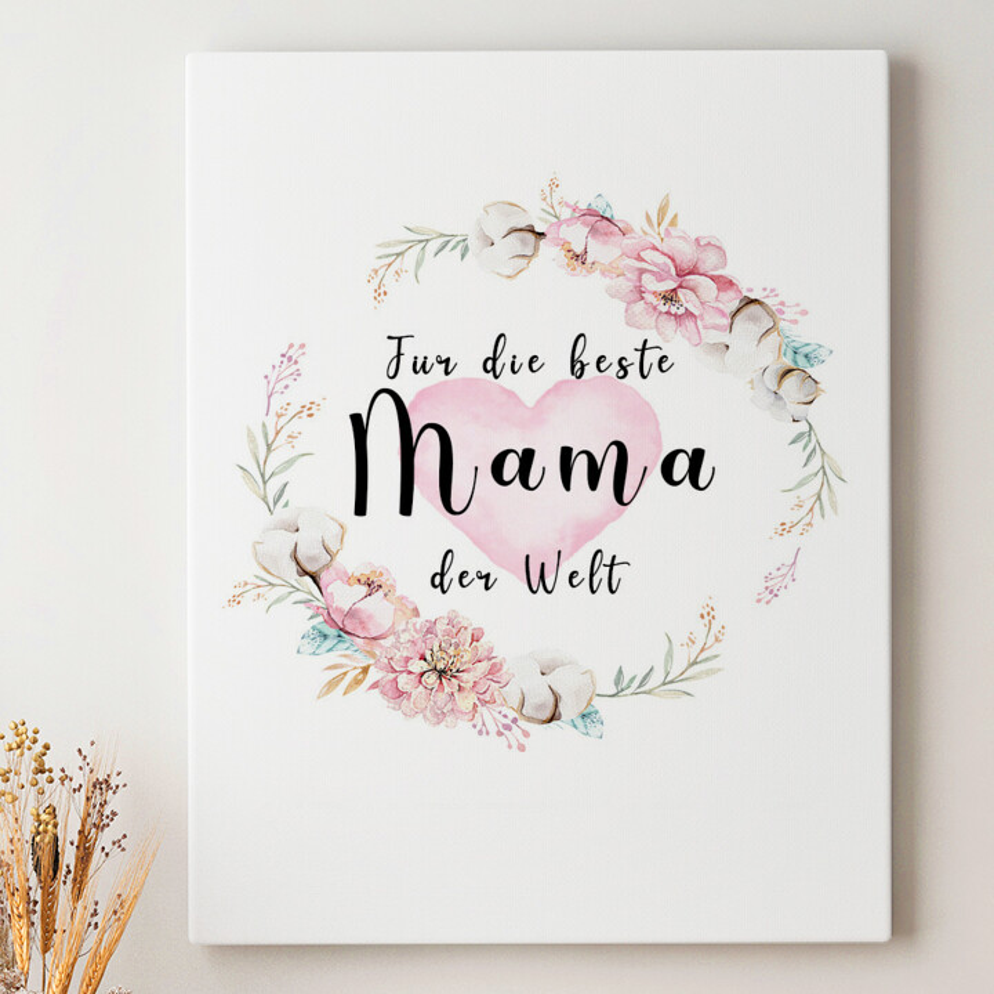 Leinwandbild personalisiert Zum Muttertag