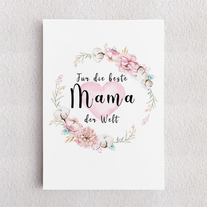 Personalisiertes Leinwandbild Zum Muttertag