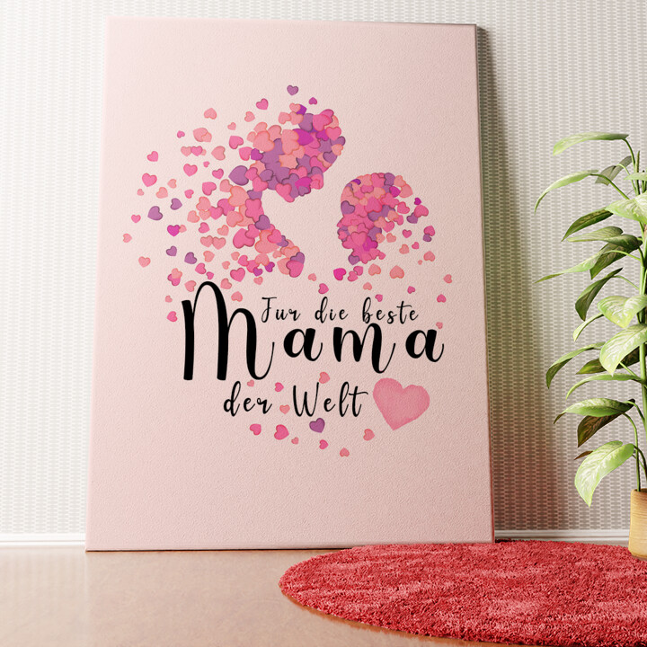 Personalisiertes Wandbild Mutterliebe