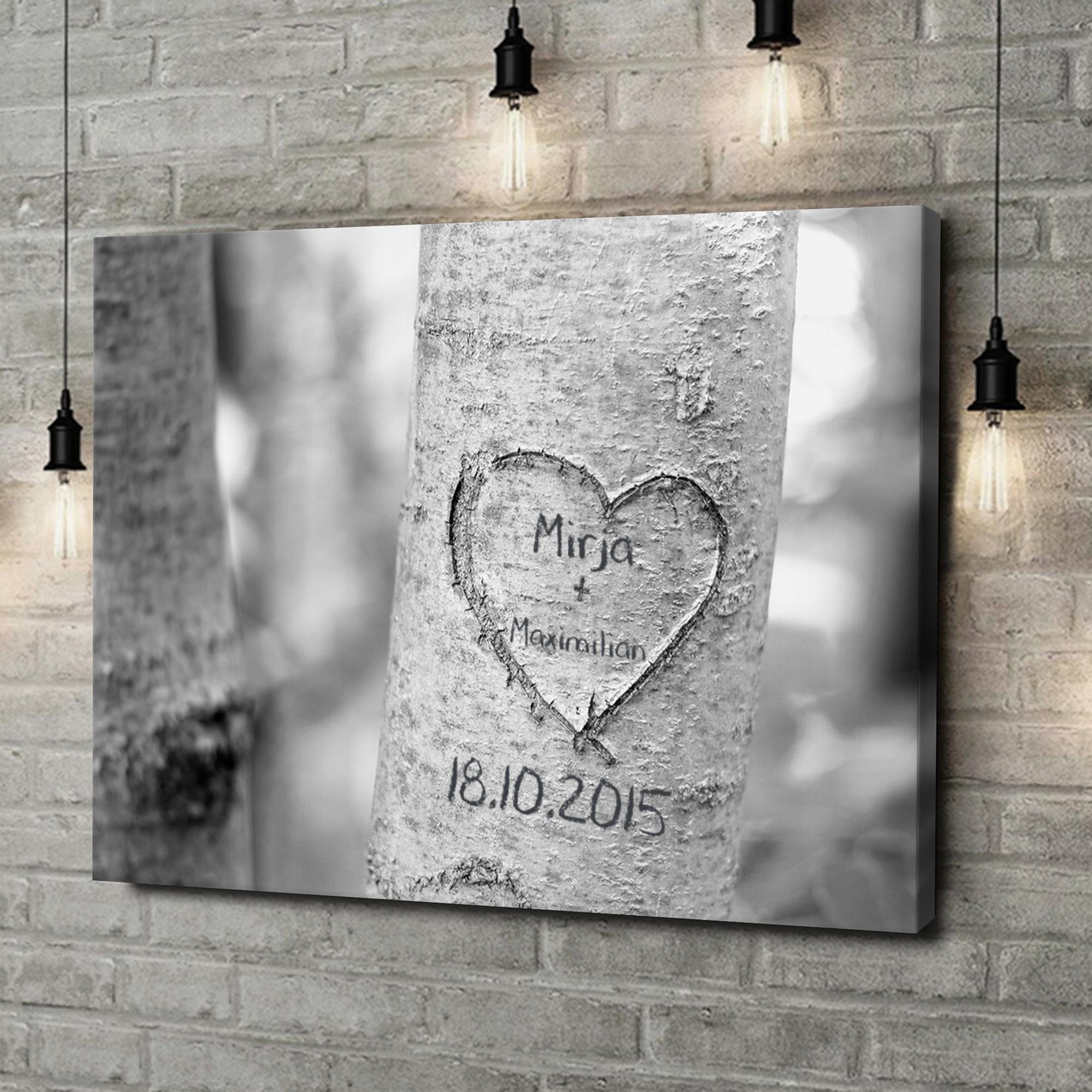 Leinwandbild personalisiert Treeheart