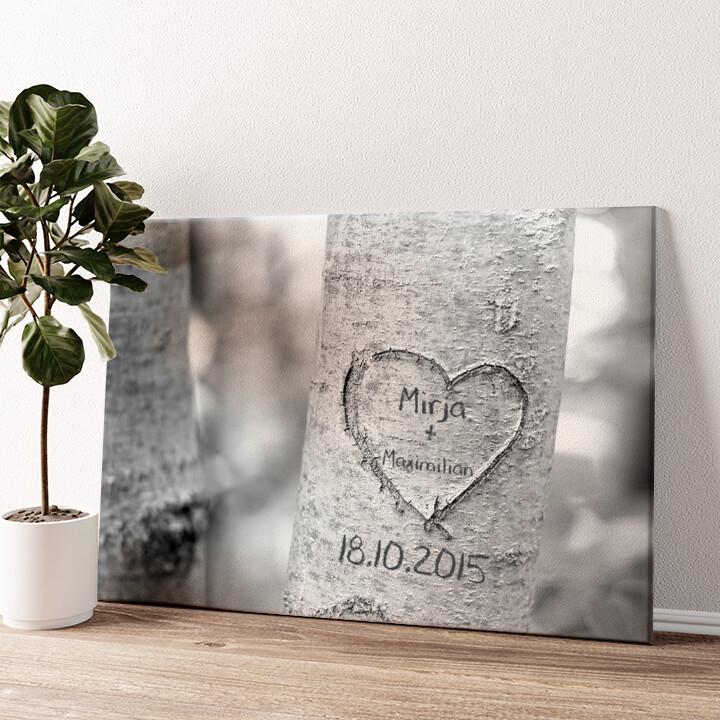 Treeheart Wandbild personalisiert