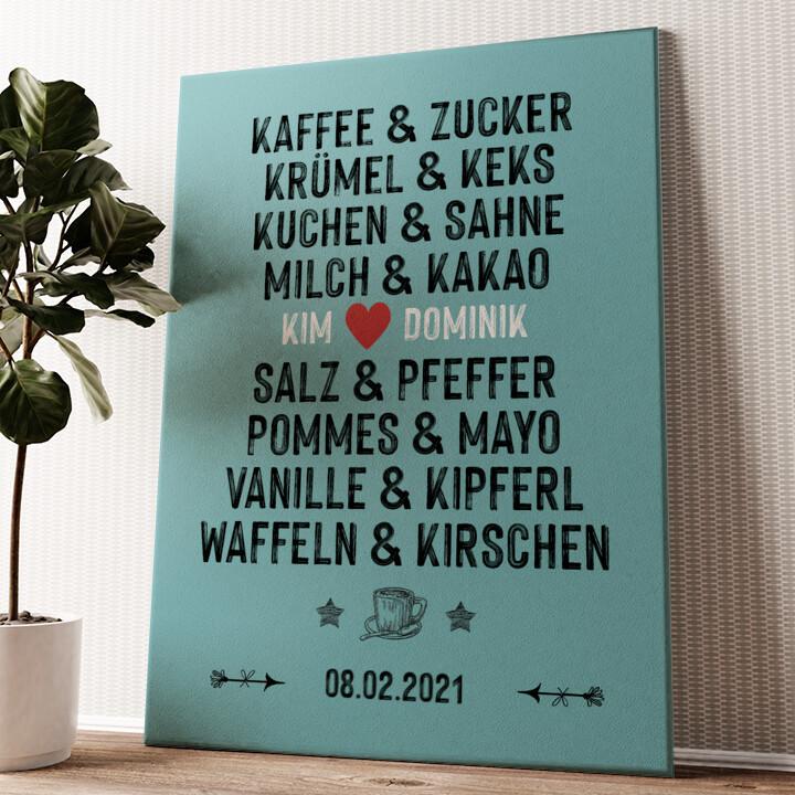 Du & Ich - Genießer Wandbild personalisiert