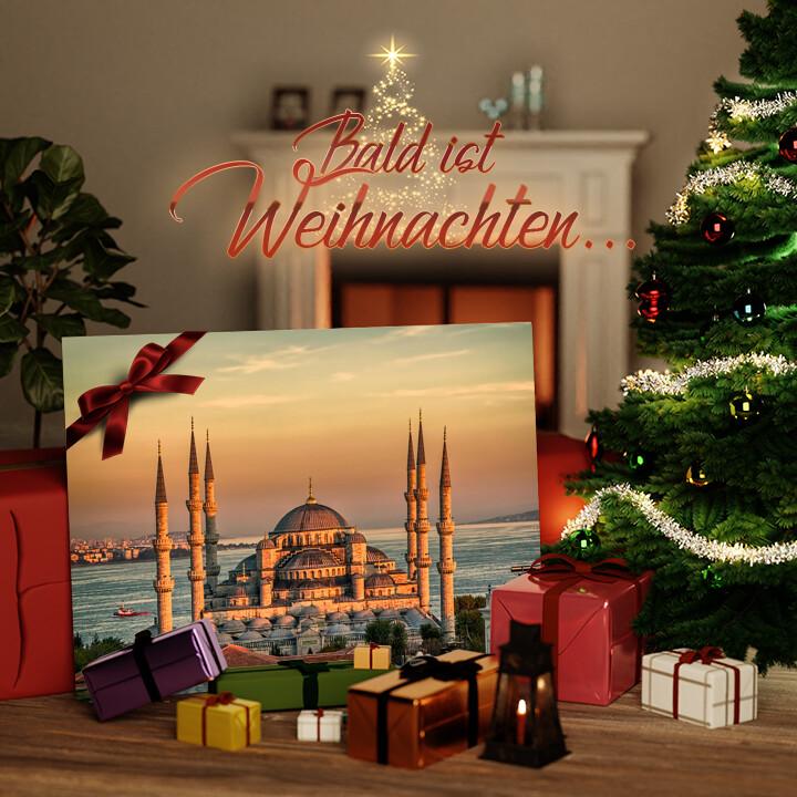 Liebesleinwand zu Weichnachten Blaue Moschee Istanbul