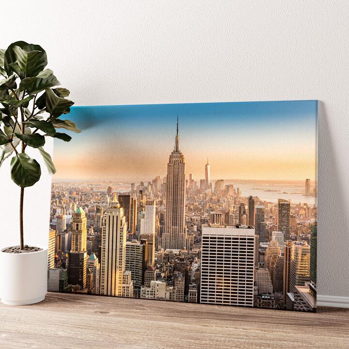 Manhattan New York Wandbild personalisiert
