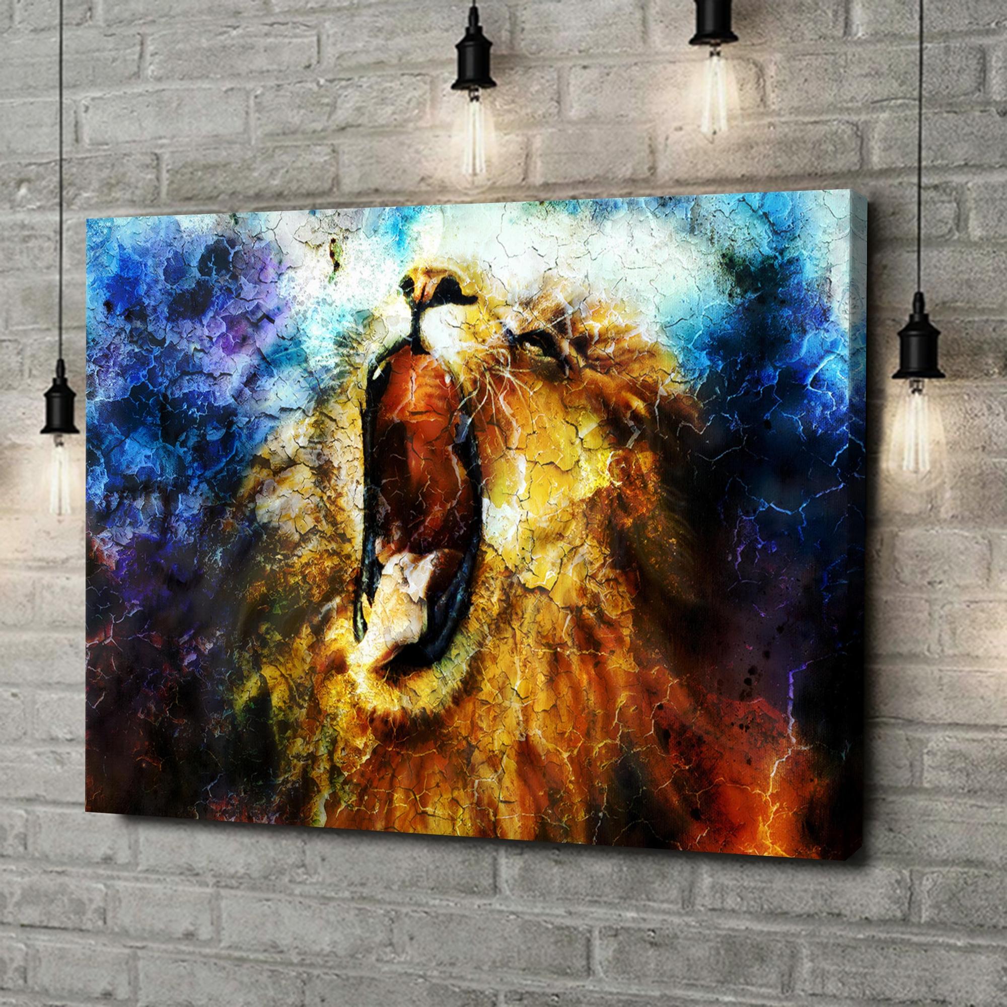 Leinwandbild personalisiert Löwe Abstrakt
