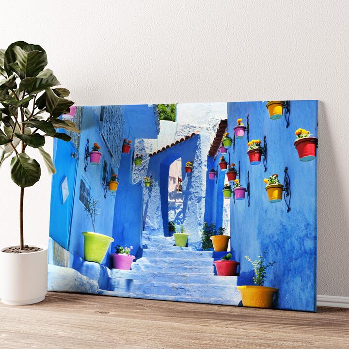 Marokkanische Gasse Wandbild personalisiert
