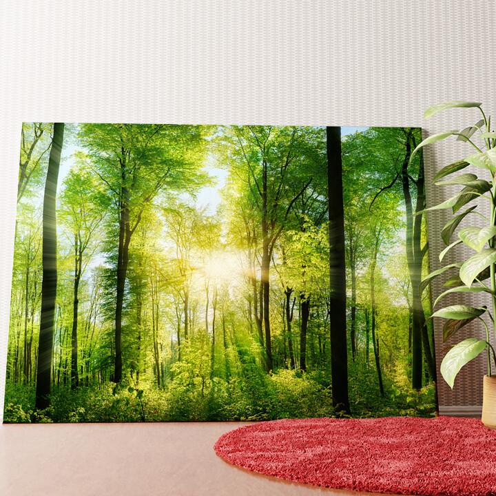 Personalisiertes Wandbild Sommerwald