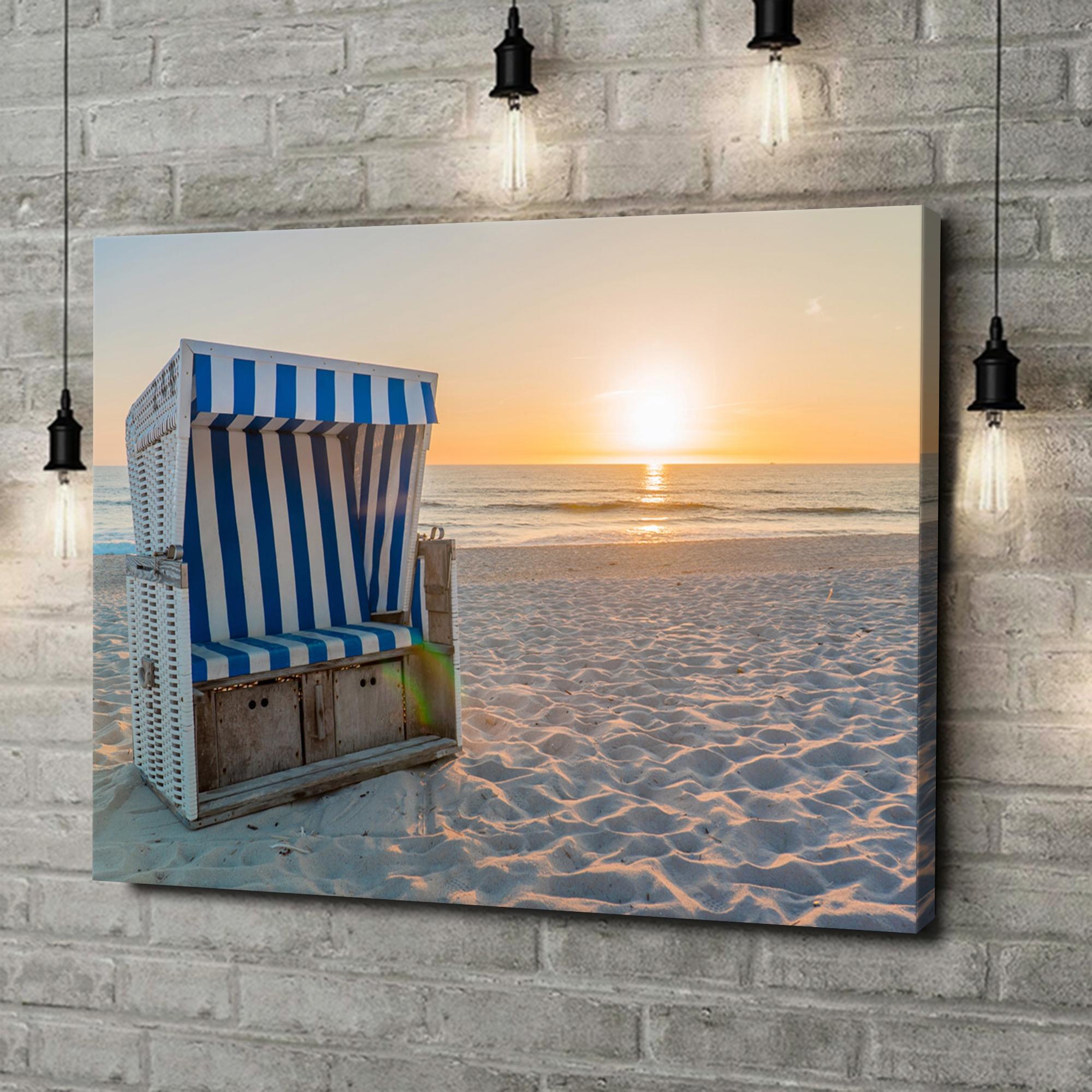 Leinwandbild personalisiert Sylter Strand