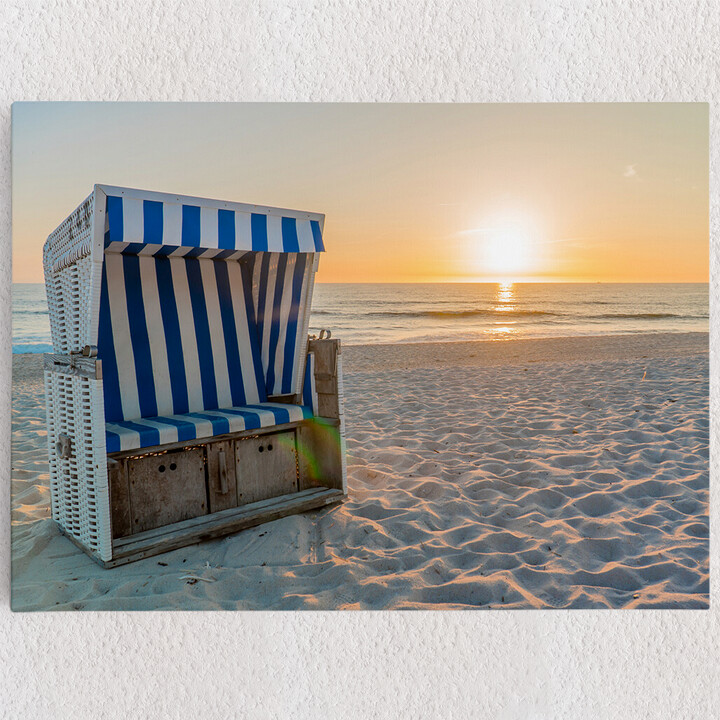 Personalisiertes Leinwandbild Sylter Strand