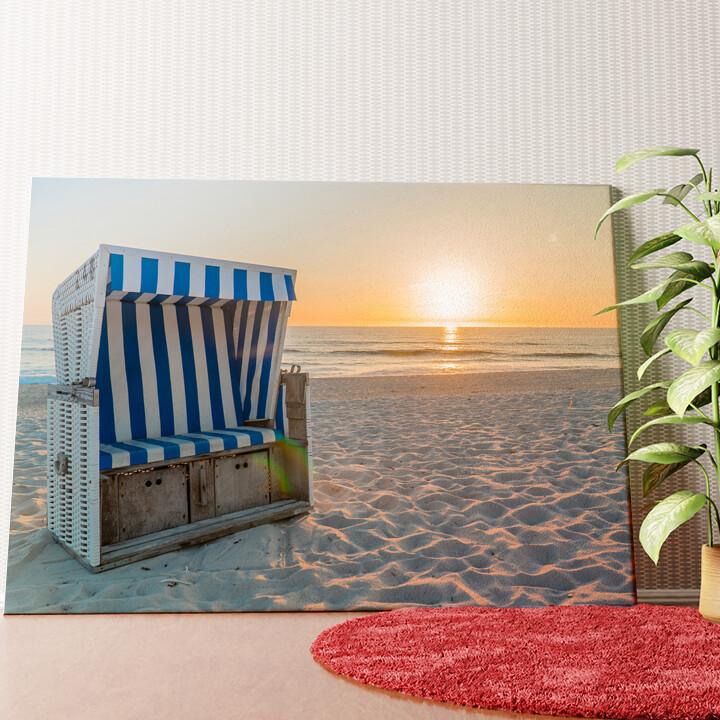 Personalisiertes Wandbild Sylter Strand