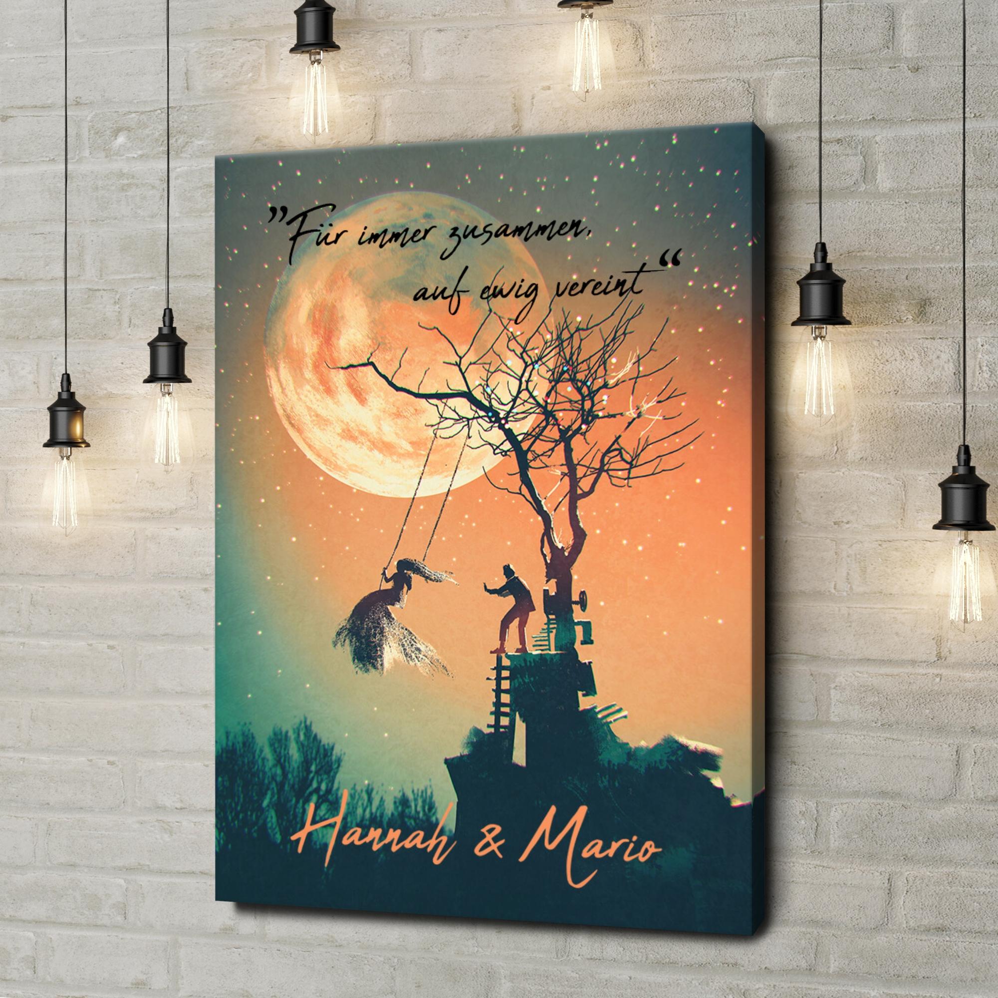 Leinwandbild personalisiert Under The Moon