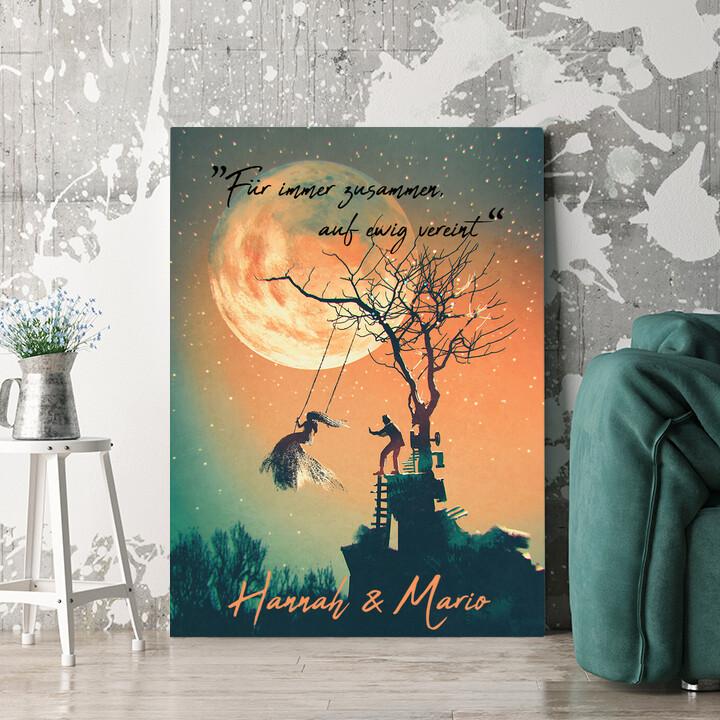 Personalisierbares Geschenk Under The Moon