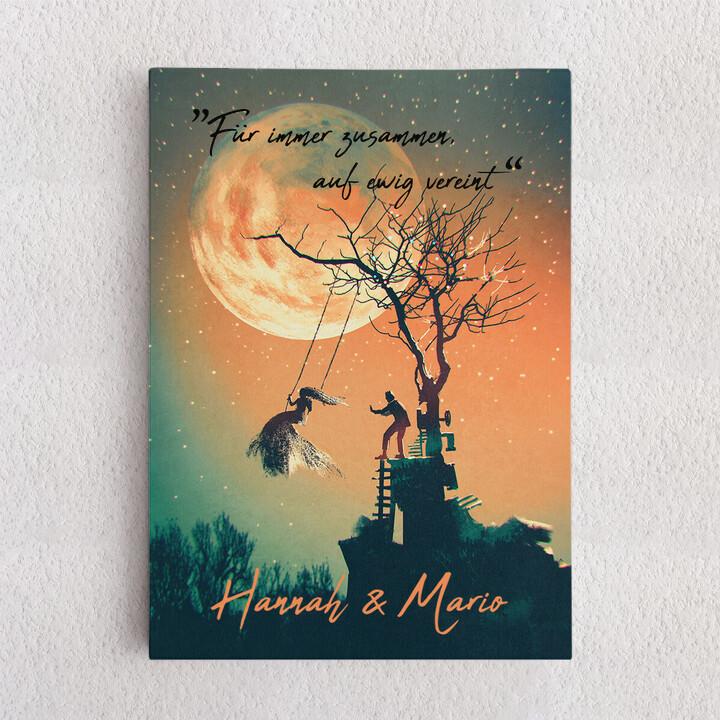 Personalisiertes Leinwandbild Under The Moon