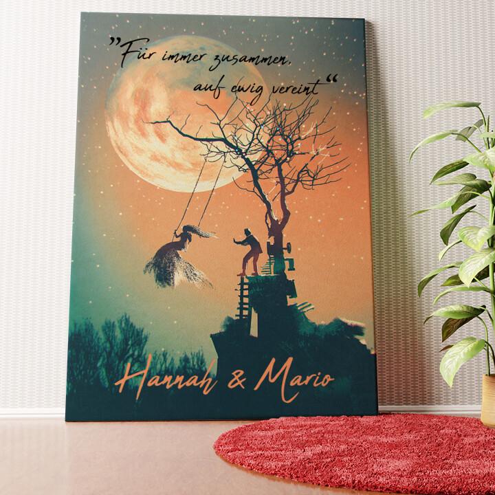 Personalisiertes Wandbild Under The Moon