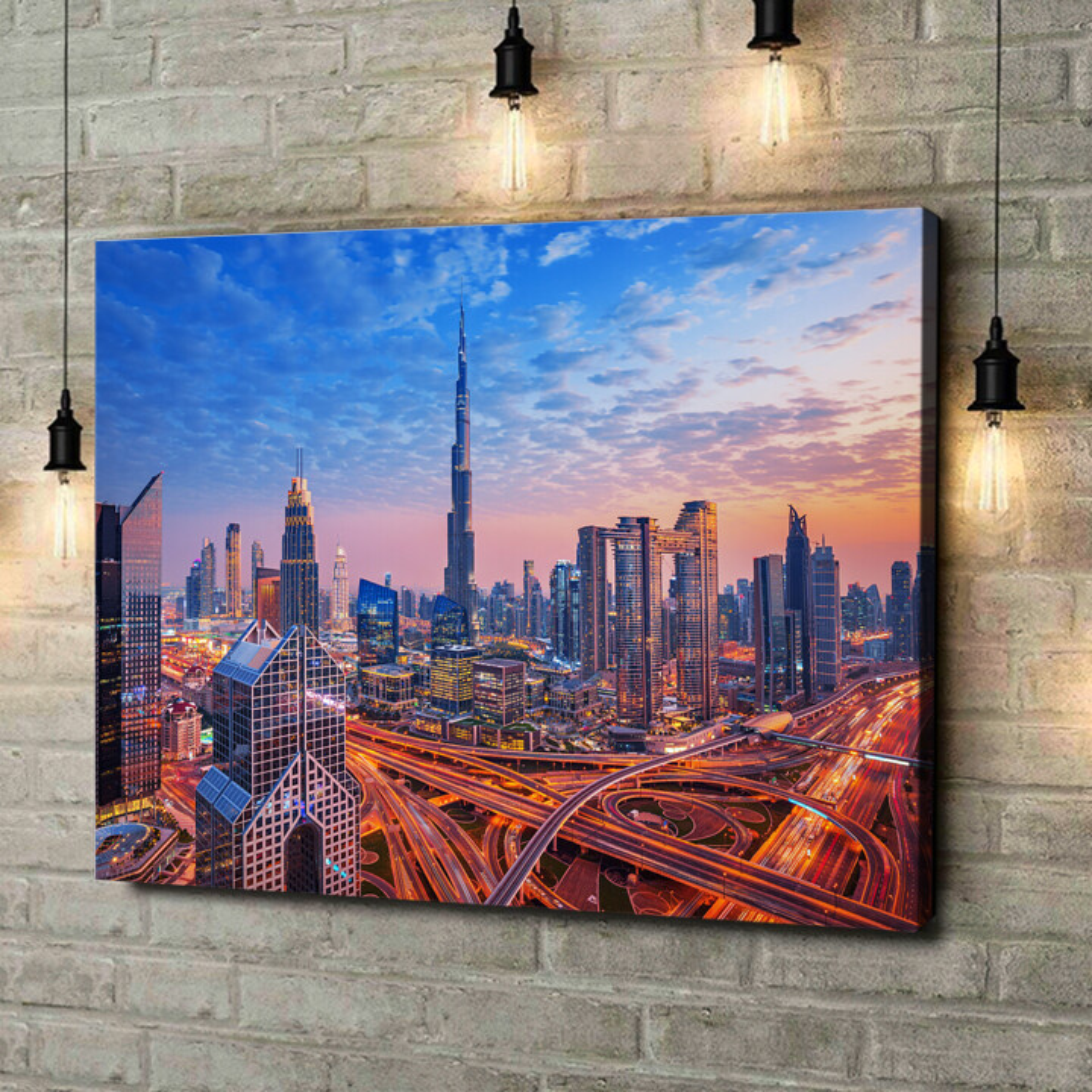 Leinwandbild personalisiert Dubai Skyline